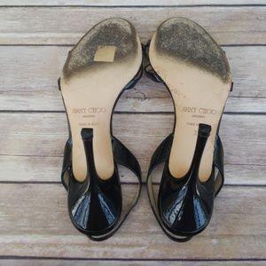125e245f8ca Jimmy Choo Shoes - Jimmy Choo Strappy Black Patent Leather Heels - 38